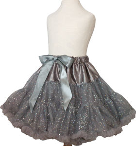 Soft Grey Shimmer Pettiskirt