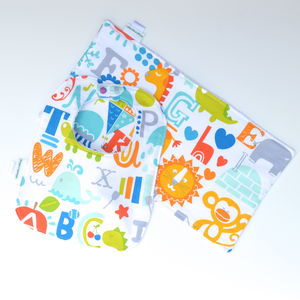 Bib And Burp Cloth Set 'Alphabet' - bathtime