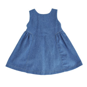 Denim Pinny Dress - dresses