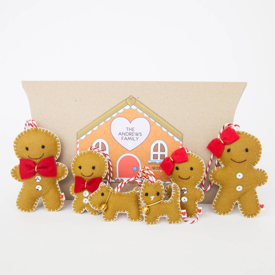 Gingerbread family tree decorations by miss shelly designs for Gingerbread decorations