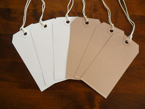 Pack Of Ten Large Luggage Tag Gift Labels - wedding favours