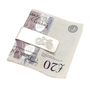 Streamlined Silver Bicycle Money Clip