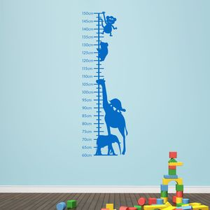 Animals Childrens Height Chart - wall stickers