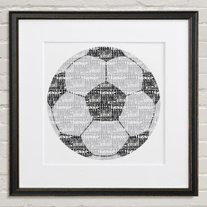 Personalised Football Print - art