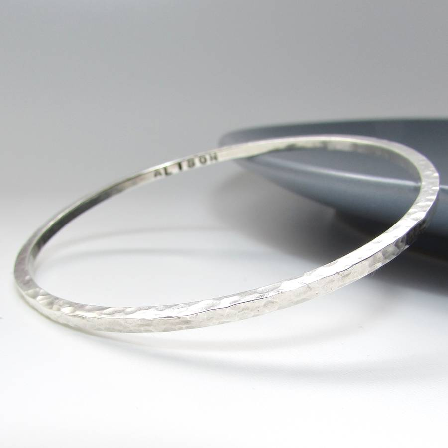bracelet products square sterling bangle silver bangles wholesale beaten