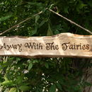 Away With The Fairies With Flower Detail