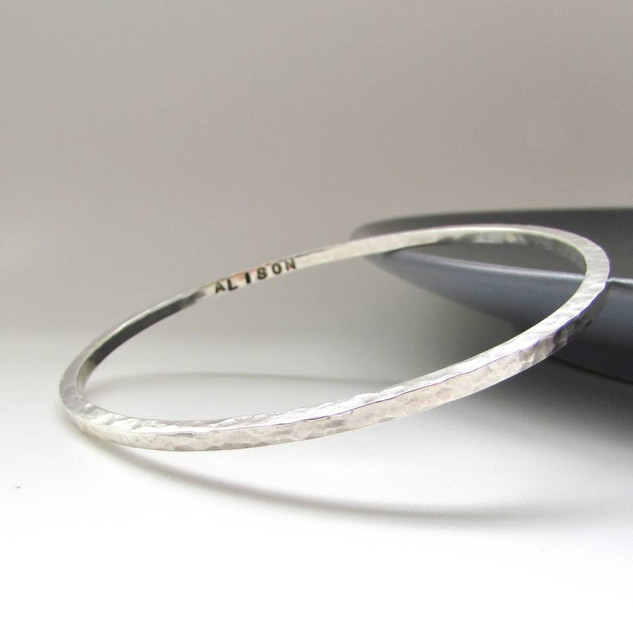 black jewelry bangles in normal lyst bracelet blues gallery bangle sterling all brushed square silver product