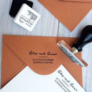 Personalised Address Stamp - wedding stationery