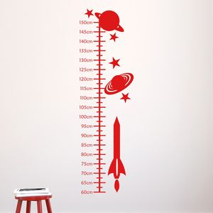 Space Rockets Kids Height Chart - wall stickers