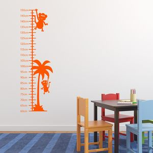 Monkeys Growth Chart Sticker - height charts