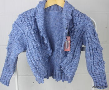Hand Knitted Pure Wool Shrug