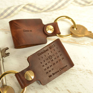 Third Anniversary Leather Keyring