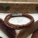 Tan Double Wrap Leather Bracelet