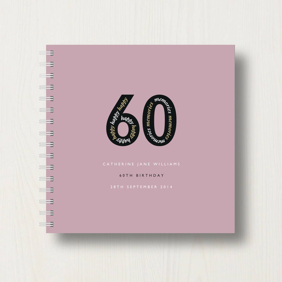 Photo Album Open Book 60th Birthday Cake: Personalised 60th Birthday Memories Album By Designed