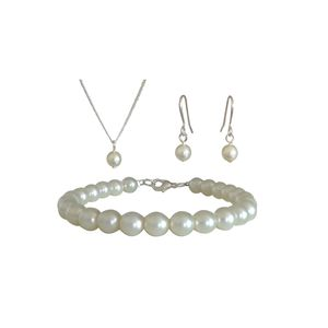 Simplicity Pearl Jewellery Set