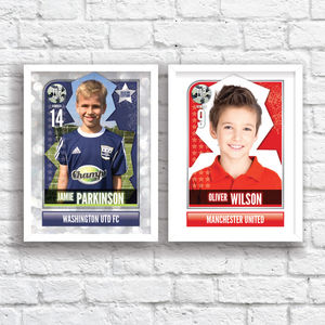 Personalised Football Sticker Print - nursery pictures & prints