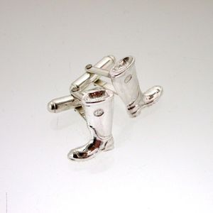 Silver Welly Cufflinks - men's jewellery