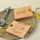 Maple wood never forget keyring