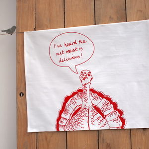 Turkey Print Tea Towel - kitchen accessories