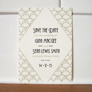 Art Deco Save The Date Card - save the date cards