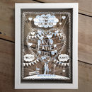 Personalised Love Papercut And Text