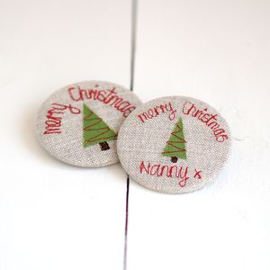 Handmade Merry Christmas Pocket Mirror - health & beauty