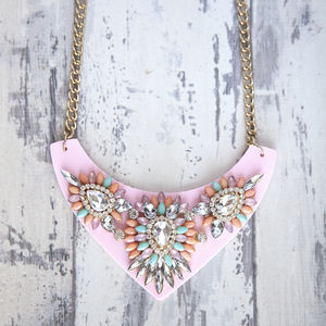 Pastel Jewelled Statement Necklace