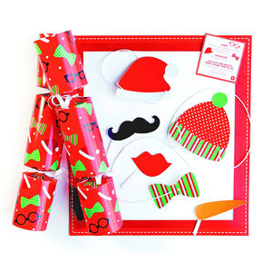 Christmas Photo Booth Novelty Crackers - christmas parties & entertaining