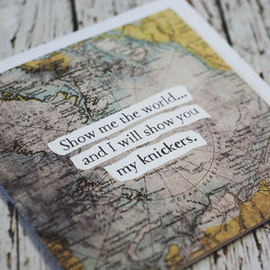 'Show me the world' Maps Card - wedding, engagement & anniversary cards