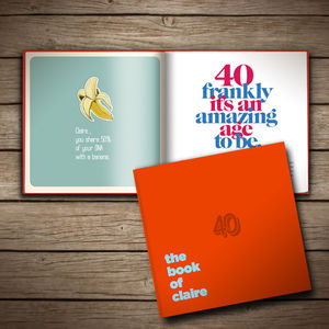 Personalised 40th Birthday Book Of Anyone