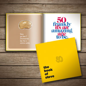 Personalised 50th Birthday Book Of Anyone