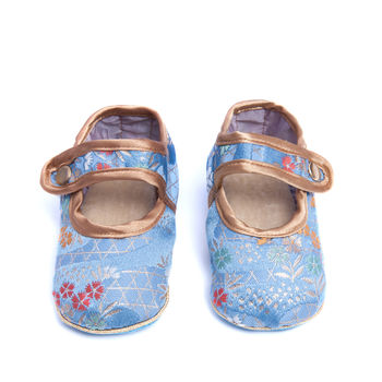 Holistic Silk Lavender Baby Slippers