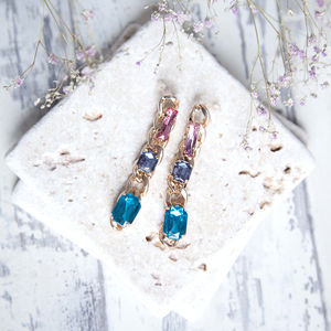 Jewelled Chain Earrings - earrings