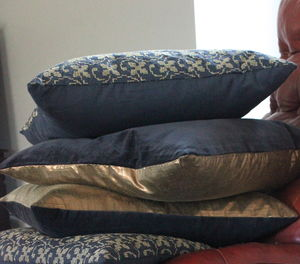 Gold, Velvet And Embroidered Cushions - cushions