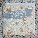 'Yay! A Baby Boy' Card