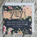 'Yay!' Engagement And Wedding Card