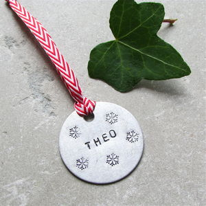Personalised Christmas Decoration Gift Tag - cards & wrap