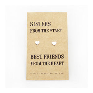 Sister Gift Silver Earrings - for sisters