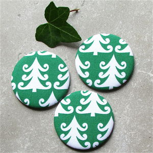 Christmas Tree Print Pocket Mirror Stocking Filler - health & beauty