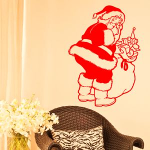 Christmas Santa Wall Sticker - christmas wall stickers