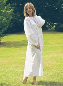 Polo Longsleeve Cotton Nightdress - lingerie & nightwear