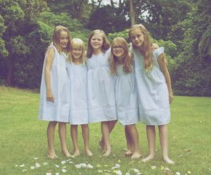 Girls Nightdress Cotton Blue - dresses