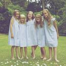 Girls Blue Pintuck And Lace Cotton Dress