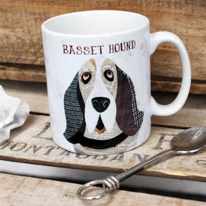 Basset Hound Personalised Dog Mug - dining room