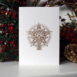 Christmas Star Multi Pack Greetings Cards - christmas