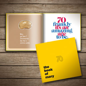 Personalised 70th Birthday Book Of Anyone - 70th birthday gifts