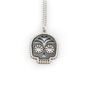 Silver Skull Calavara Necklace - necklaces & pendants