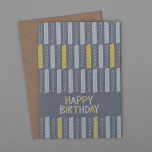 Stem Blocks Birthday Card - birthday cards