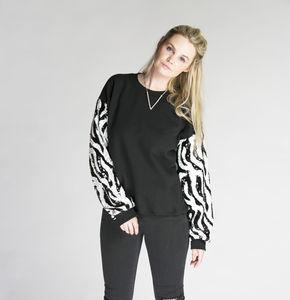 Zebra Sequin Sweater