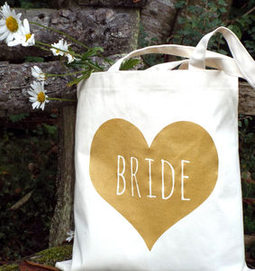 'Bride' Wedding Tote Bag - shopper bags